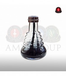 Glasbowl Amy Small Rips - black / chrome